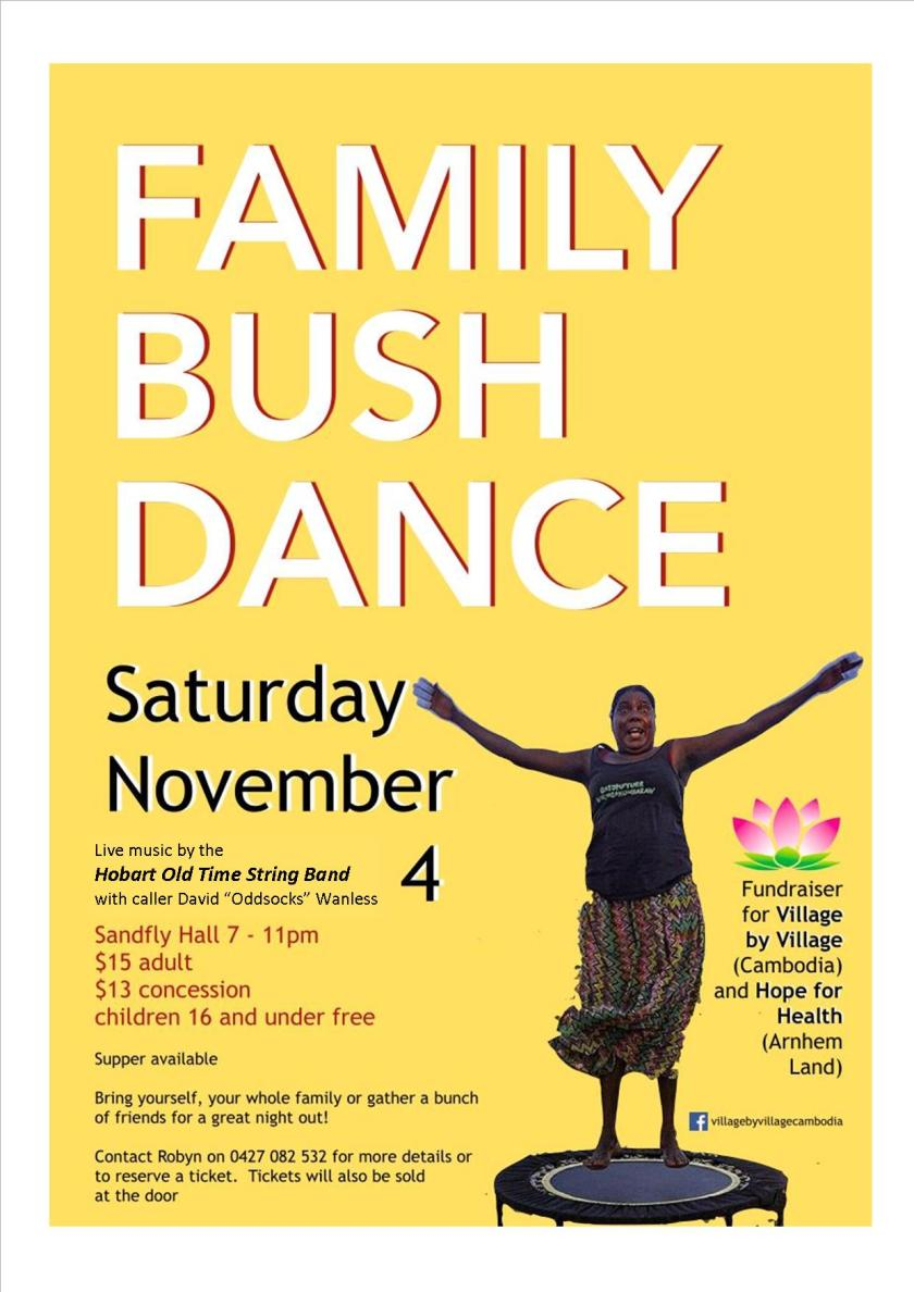 FD20171104 Updated family bush dance poster - village by village + hope for health 4